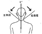 頸部の側屈の参考図